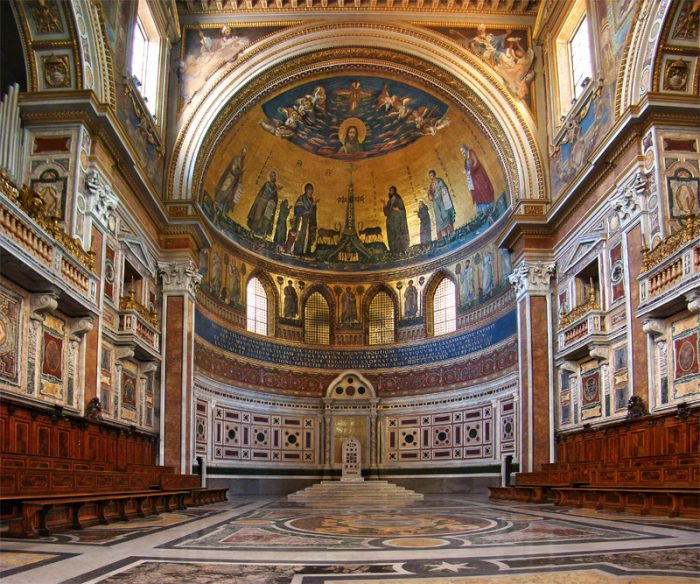 How to see the sights of Rome for free: Arcibasilica di San Giovanni in Laterano is always free.