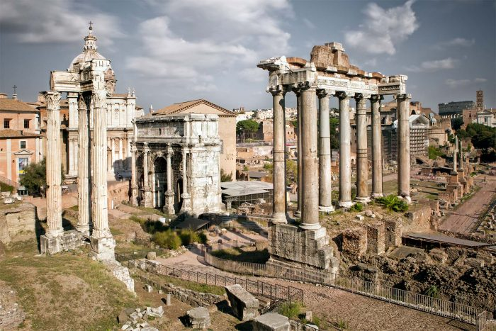 How to see the sights of Rome for free: Roman Forum & Palatine Hill are always free.