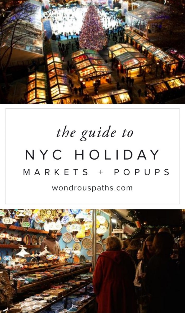 NYC holiday markets & pop-up shops are so cute!