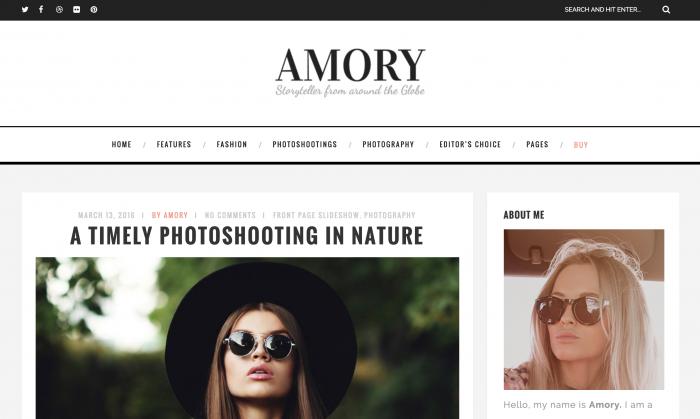 Amory Travel Fashion Lifestyle Theme WordPress