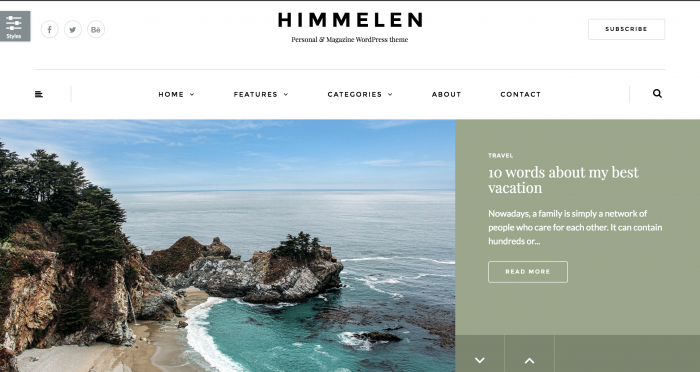 Himmelen Travel Blog WordPress Theme