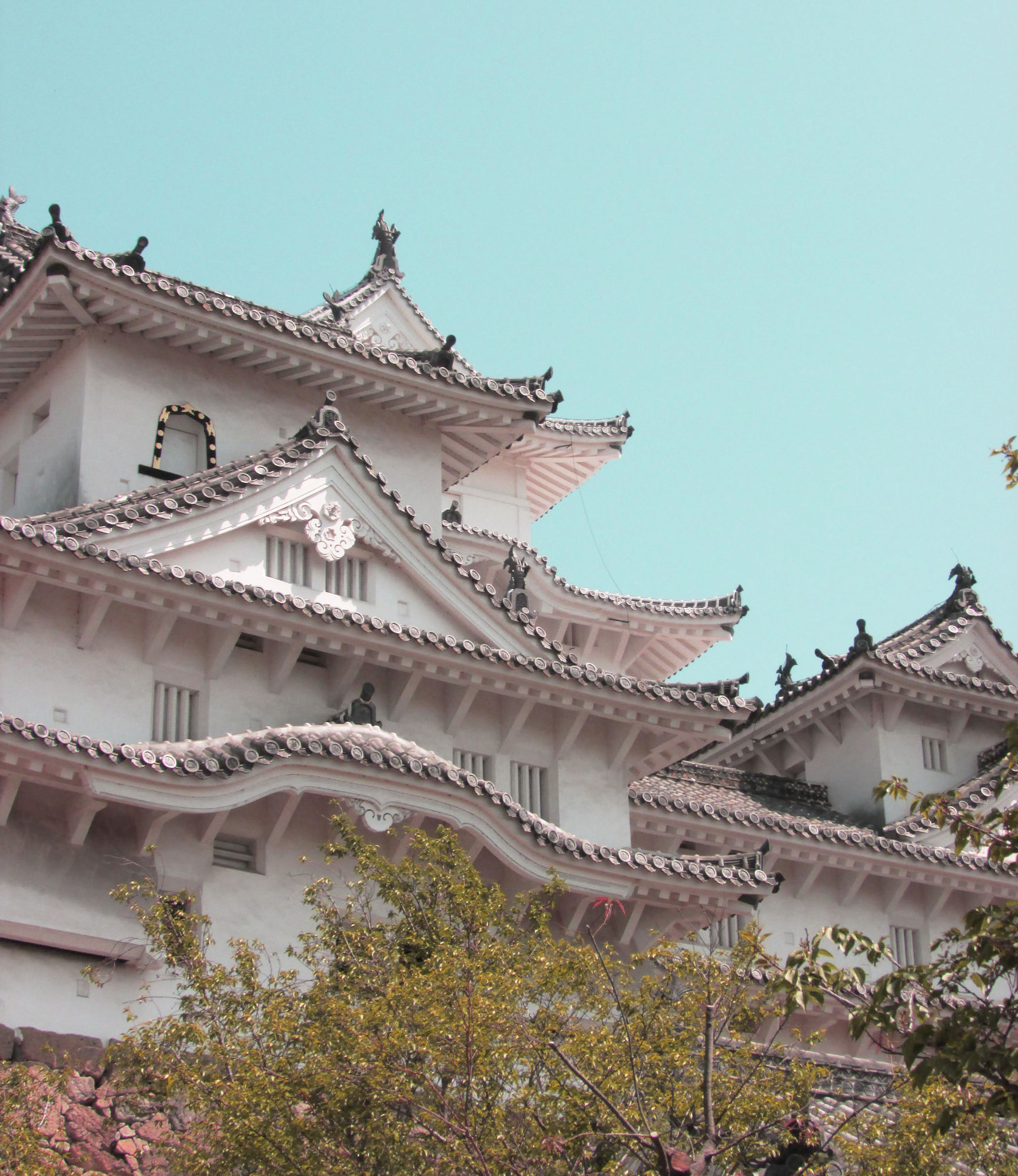 Closeup of the exterior of Himeji Castle - How to Visit Himeji Castel