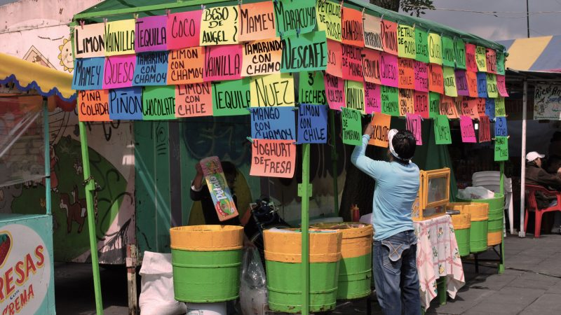 Mexico city ice cream street food stall