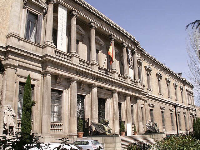 Archaeological museum facade in Madrid