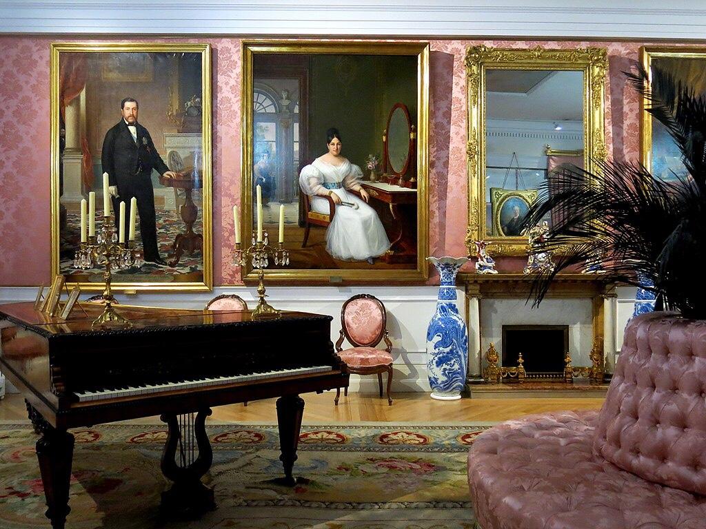 Interior of the museum of Romanticism in Madrid Spain