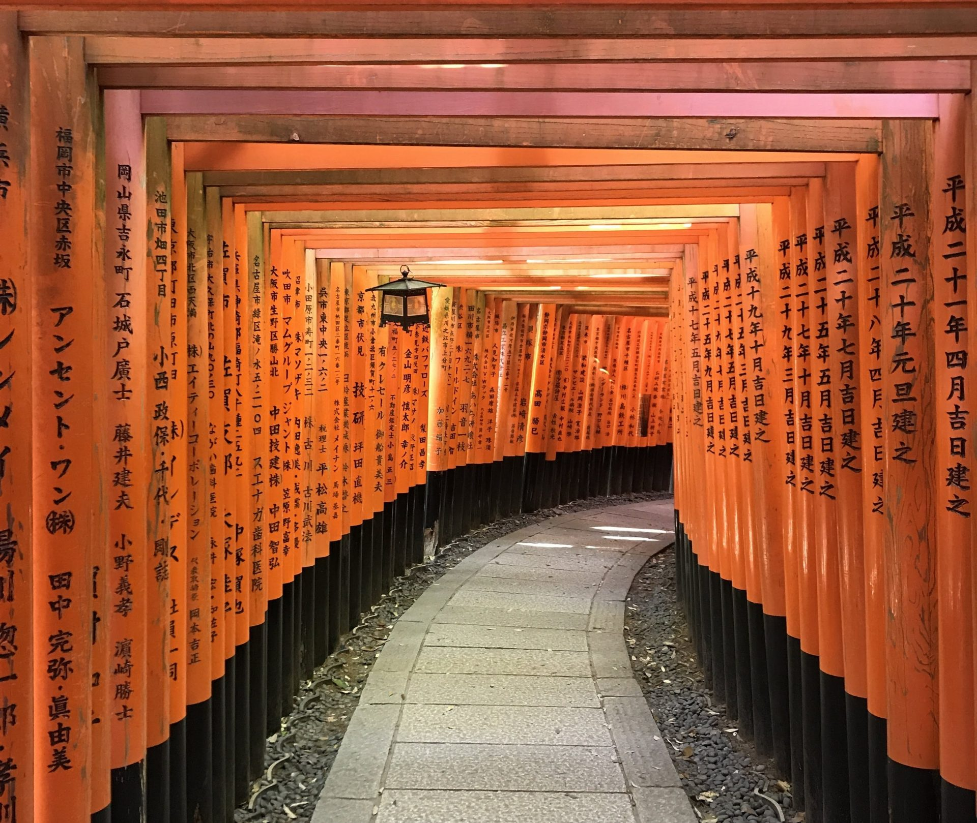 Red torii gates at the Fushimi Inari shrine