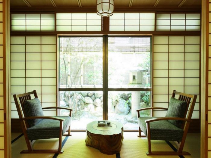 Interior room with two chairs in Gion Hatanaka