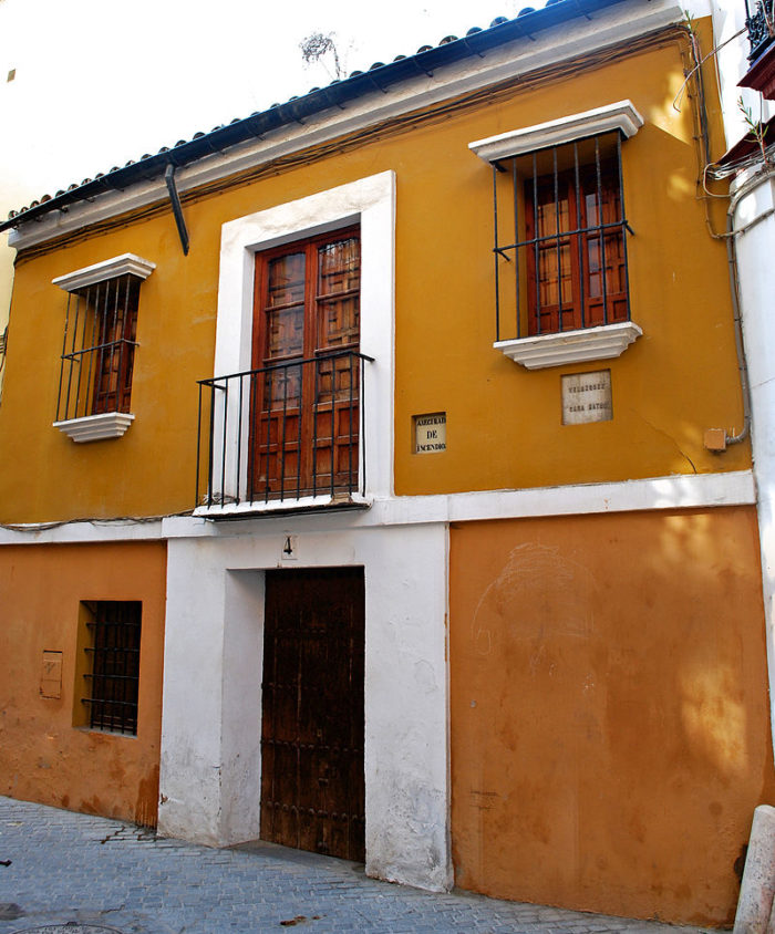 Birthplace of Diego Velazquez facade in Seville